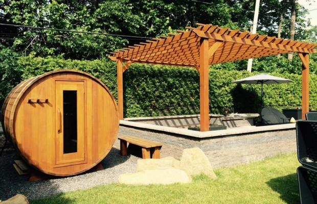 Pergola et sauna